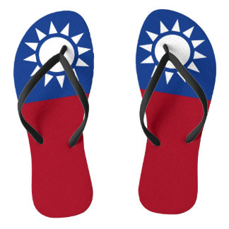 Flagge von Taiwan die Republik China Flip Flops