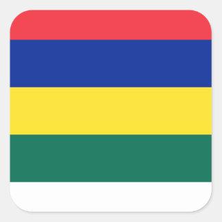 Flagge von Terschelling Quadratischer Aufkleber
