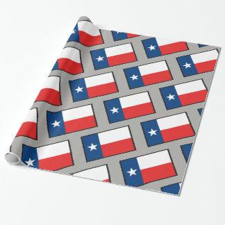 Flagge von Texas Geschenkpapier