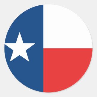 Flagge von Texas Runder Aufkleber