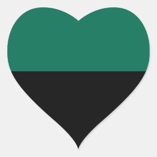 Flagge von Texel Herz-Aufkleber