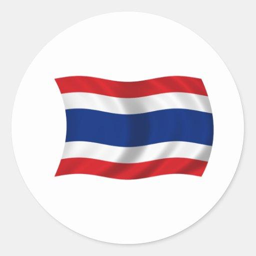 Flagge von Thailand Runde Aufkleber