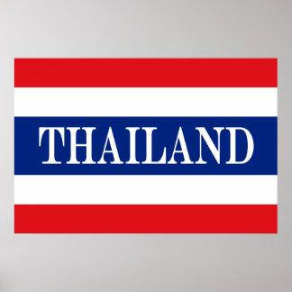 Flagge von Thailand Poster