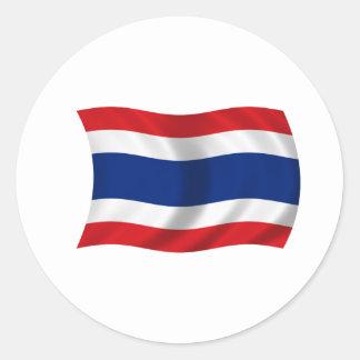 Flagge von Thailand Runder Aufkleber