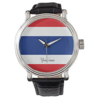 Flagge von Thailand Uhr