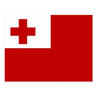 Flagge von Tonga-Postkarte Postkarte