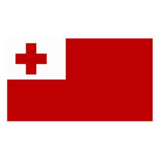 Flagge von Tonga-Visitenkarten