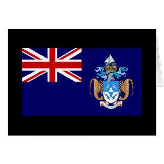 Flagge von Tristan DA Cunha Karte
