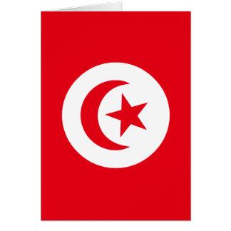 Flagge von Tunesien Karte