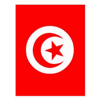 Flagge von Tunesien Postkarte