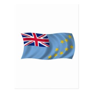 Flagge von Tuvalu Postkarte