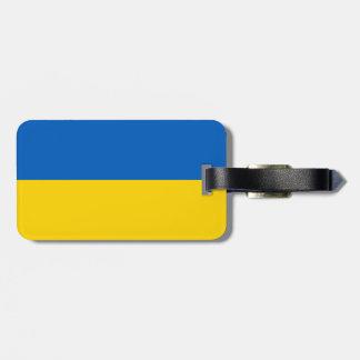 Flagge von Ukraine-Gepäckanhänger mit Lederband Gepäckanhänger