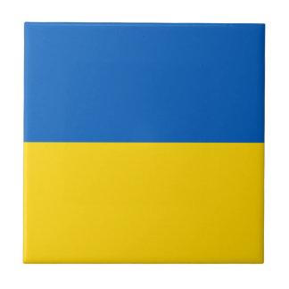 Flagge von Ukraine - ukrainische Flagge - Fliese