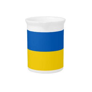 Flagge von Ukraine - ukrainische Flagge - Getränke Pitcher