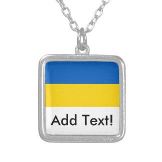 Flagge von Ukraine Versilberte Kette
