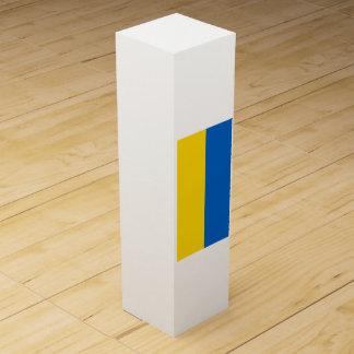 Flagge von Ukraine Wein-Geschenkverpackung