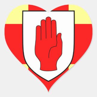 Flagge von Ulster - Nordirland Herz-Aufkleber