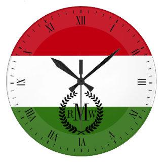 Flagge von Ungarn Große Wanduhr