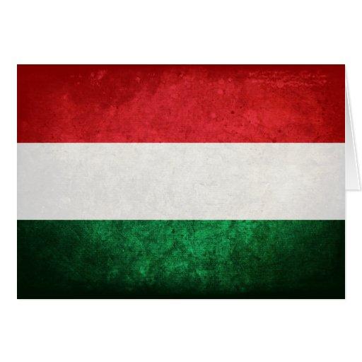 Flagge von Ungarn Grußkarten