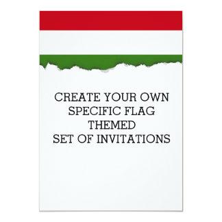 Flagge von Ungarn Karte