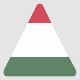 Flagge von Ungarn - Magyarország zászlaja Dreieckiger Aufkleber