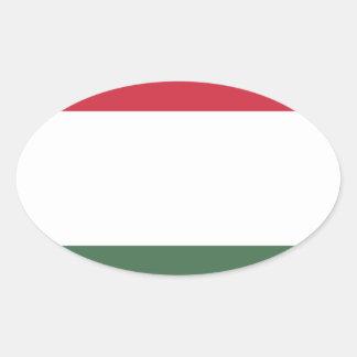 Flagge von Ungarn - Magyarország zászlaja Ovaler Aufkleber