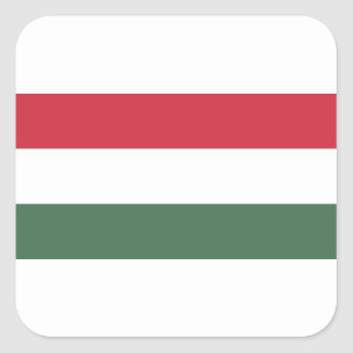 Flagge von Ungarn - Magyarország zászlaja Quadratischer Aufkleber