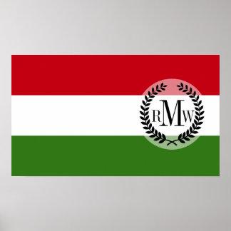 Flagge von Ungarn Poster