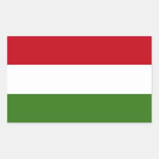Flagge von Ungarn Rechteckiger Aufkleber