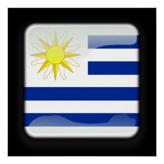 Flagge von Uruguay Poster