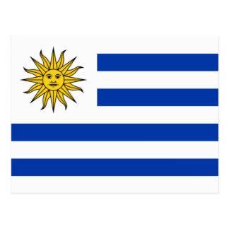 Flagge von Uruguay Postkarte