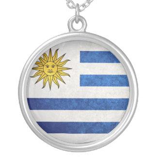 Flagge von Uruguay Versilberte Kette