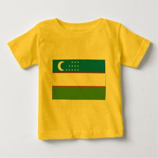 Flagge von Usbekistan Baby T-shirt