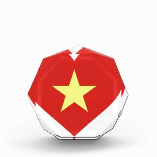 Flagge von Vietnam - I Liebe Vietnam - Cờ đỏ Sao Auszeichnung