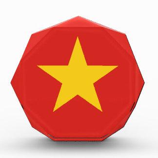 Flagge von Vietnam - Quốc kỳ Việt Nam Acryl Auszeichnung
