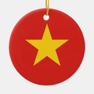 Flagge von Vietnam - Quốc kỳ Việt Nam Keramik Ornament