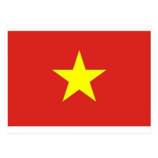 Flagge von Vietnam - Quốc kỳ Việt Nam Postkarte