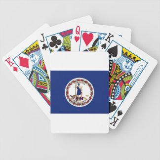 Flagge von Virginia Bicycle Spielkarten