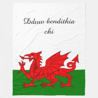 Flagge von Wales Fleecedecke