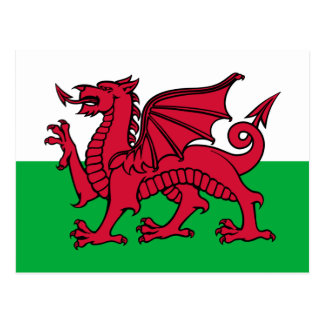 Flagge von Wales Postkarte