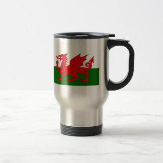 Flagge von Wales Reisebecher