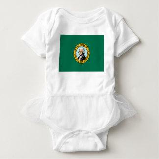 Flagge von Washington Baby Strampler
