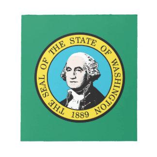 Flagge von Washington-Staat Notizblock