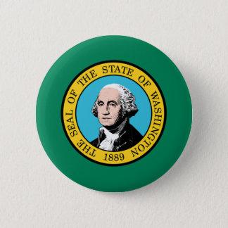 Flagge von Washington-Staat Runder Button 5,1 Cm