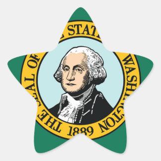 Flagge von Washington Stern-Aufkleber