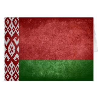 Flagge von Weißrussland Mitteilungskarte