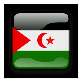 Flagge von Westsahara Poster