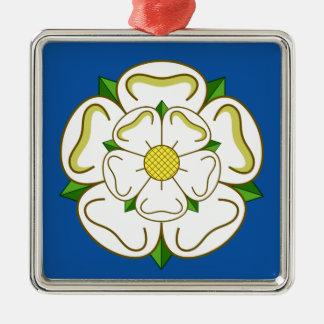 Flagge von Yorkshire Silbernes Ornament
