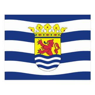 Flagge von Zeeland Postkarte