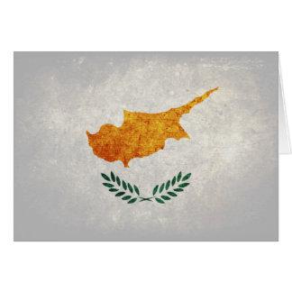 Flagge von Zypern Mitteilungskarte